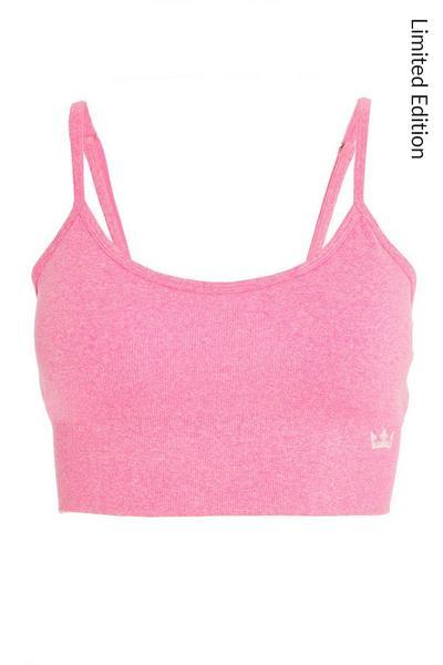 Pink Seamless Sports Bra